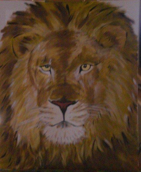 Peinture a l acrylique d un lion dessins et peintures - Dessin peinture facile ...